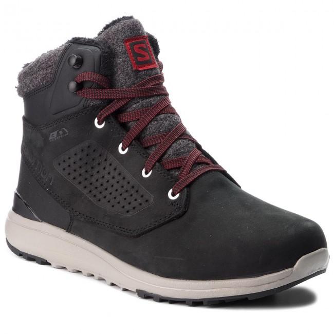 Trekingová obuv SALOMON - Utility Winter Cs Wp 404725 27 V0 Black Black Red 7609a705e74