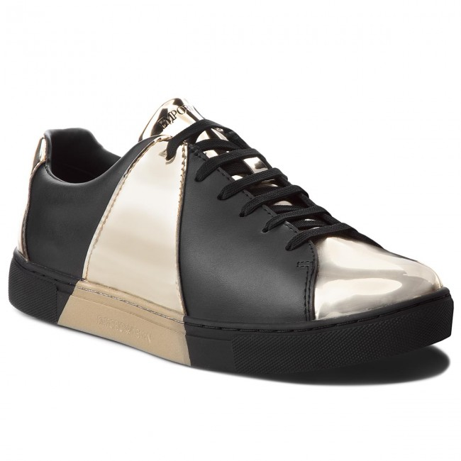 8517130483 Sneakersy EMPORIO ARMANI - X3X067 XL526 D467 Gold Black - Sneakersy ...