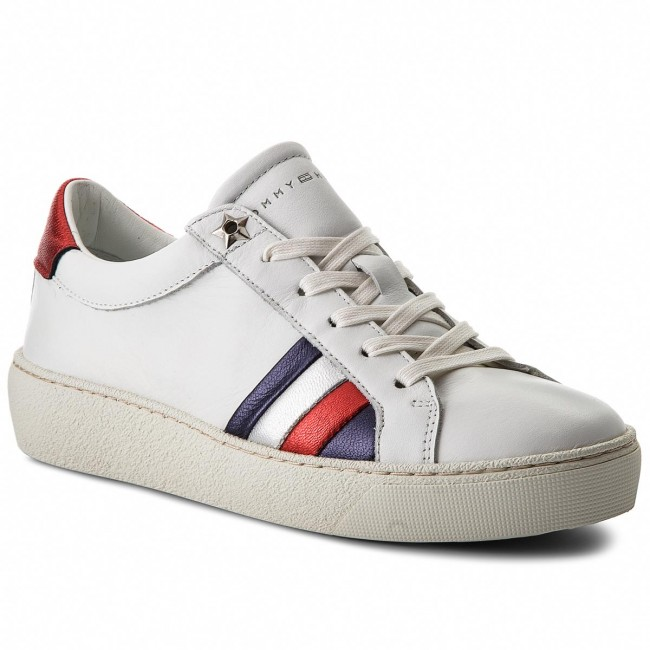 Sneakersy TOMMY HILFIGER - Corporate Iconic Sneaker FW0FW03458 White ... 3e2f3d4a78