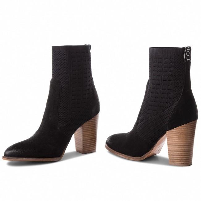 02d114a22e Členková obuv TOMMY HILFIGER - Knit Heeled Boot FW0FW02941 Black 990 ...