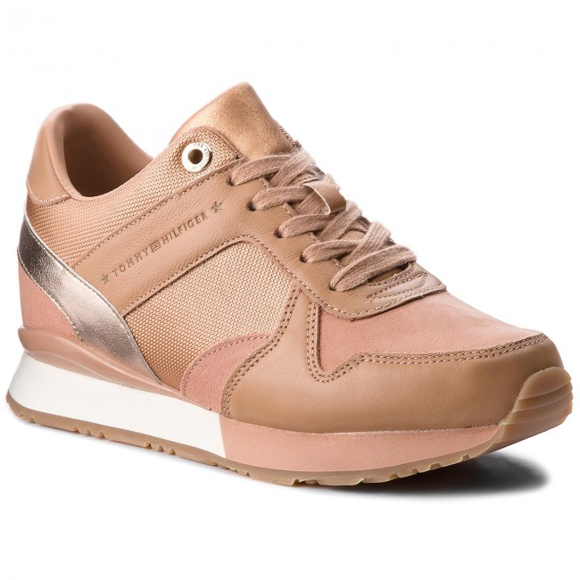 97c5b09f54 Sneakersy TOMMY HILFIGER - Sneaker Wedge FW0FW02977 Silky Nude 297 ...