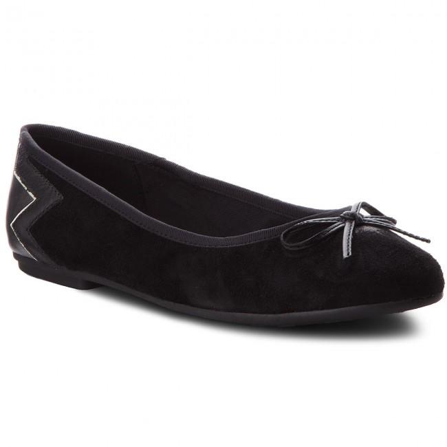 a535e6dbf2b Baleríny TOMMY HILFIGER - Elevated Suede Ballerina FW0FW03036 Black ...