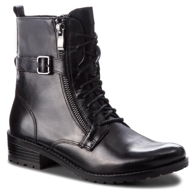 Členková obuv CAPRICE - 9-25100-21 Blk Waxy Nappa 048 - Kotníková ... 2c4d70d6db7