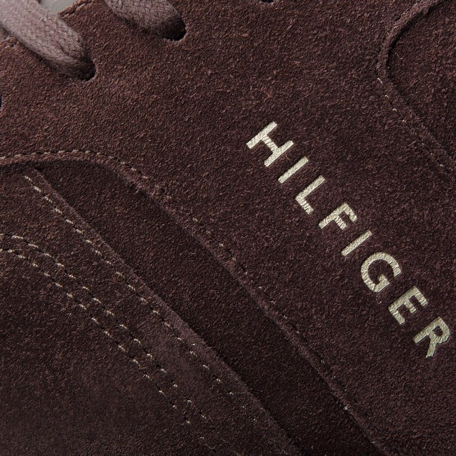 Sneakersy TOMMY HILFIGER - Iconic Suede Textile FM0FM01731 Coffee Bean 212 cfcb90eae51
