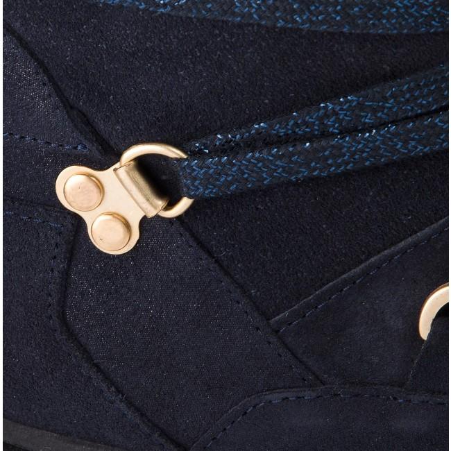 f330db6818 Členková obuv TOMMY HILFIGER - Cozy Warmlined Suede FW0FW03437 Midnight 403