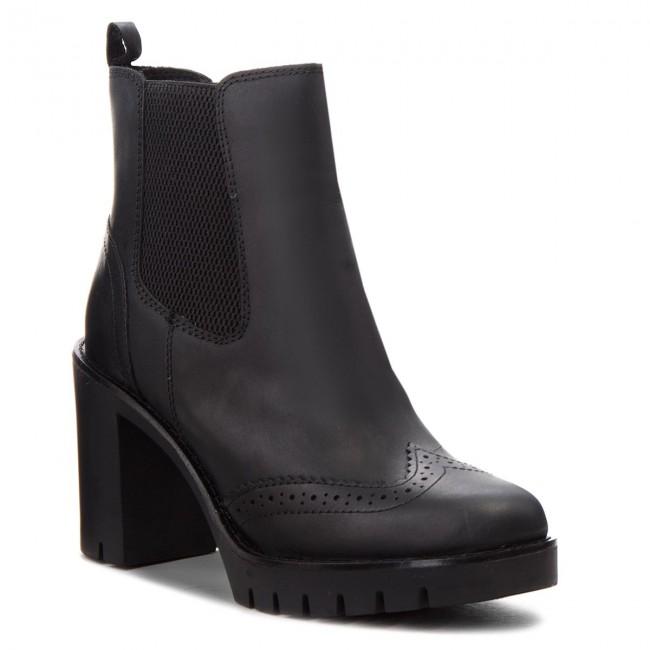 Členková obuv TOMMY HILFIGER - Casual Heeled Chelse FW0FW03058 Black ... 0eace4b01bb