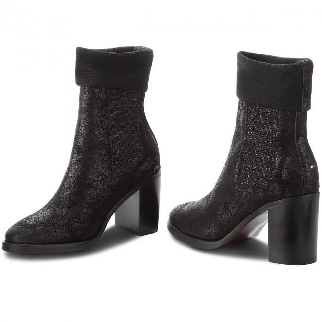 d524d8d15e Členková obuv TOMMY HILFIGER - Knitted Sock Heeled FW0FW03127 Black ...
