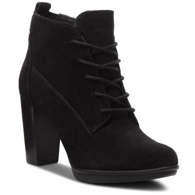 Členková obuv TOMMY HILFIGER - Basic Lace Up Heel B FW0FW03573 Black ... d194a1c1646