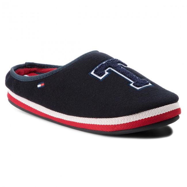 30f0cb8db69 Papuče TOMMY HILFIGER - Badge Homeslipper FM0FM01786 Midnight 403 ...