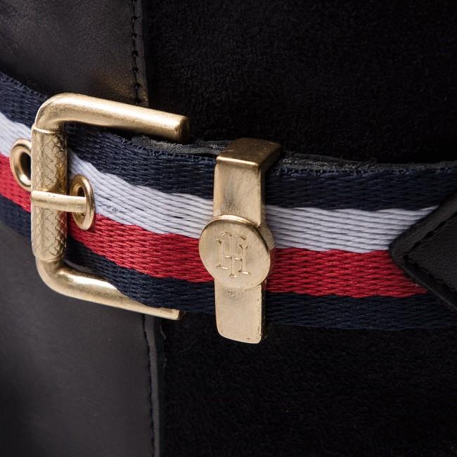 Čižmy vo vojenskom štýle TOMMY HILFIGER - Corporate Belt Long FW0FW03313  Black 990 1c587da9d3f