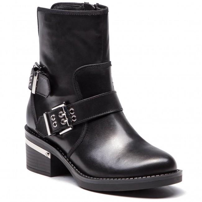 5c84838558 Členková obuv GUESS - FLFII4 LEA10 BLACK - Kotníková obuv - Čižmy a ...