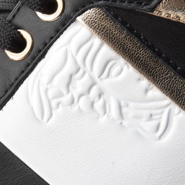 Sneakersy VERSACE COLLECTION - V900714 VM00392 V660H Nero Bianco Oro Chiaro 37cc15157b2