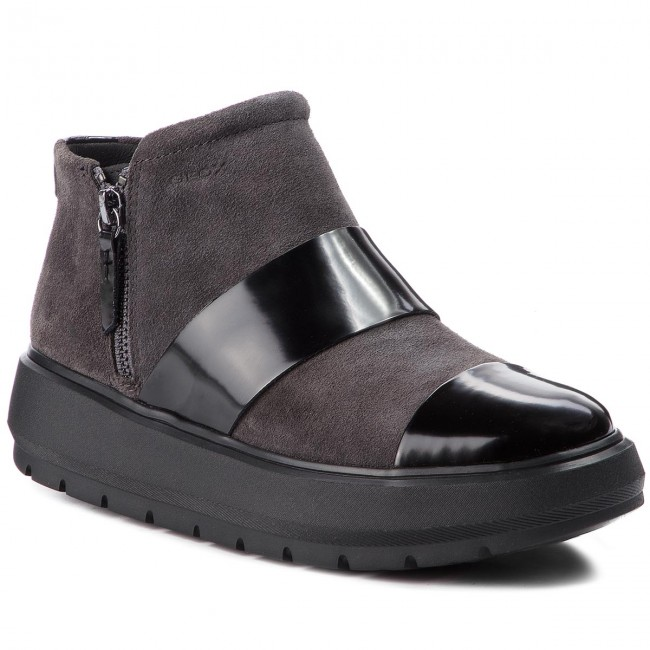 Členková obuv GEOX - D Kaula E D84ANE 022BC C9211 Anthracite Black ... 597a5d3c31