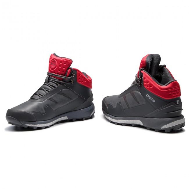 acb13a63459 Trekingová obuv BIG STAR - BB174207 Grey - Outdoorové topánky ...