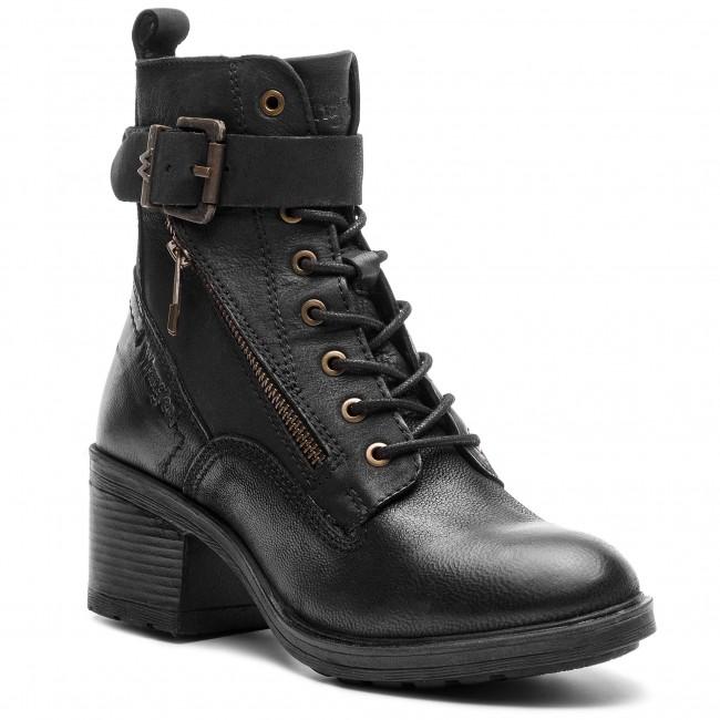 Členková obuv WRANGLER - Vail Lace WL182542 Black 62 - Kotníková ... f722dba373f