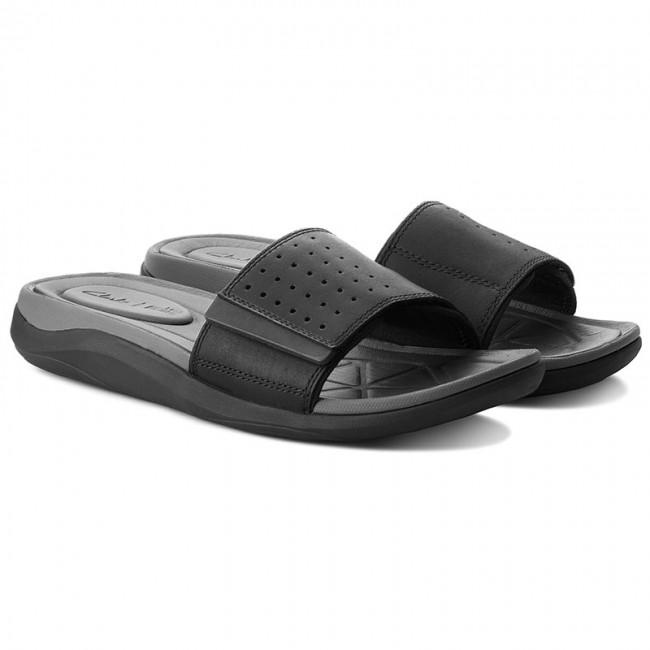 87ed532f3783c Šľapky CLARKS - Garratt Slide 261324317 Black Leather - Šľapky - Šľapky a  sandále - Pánske - www.eobuv.sk