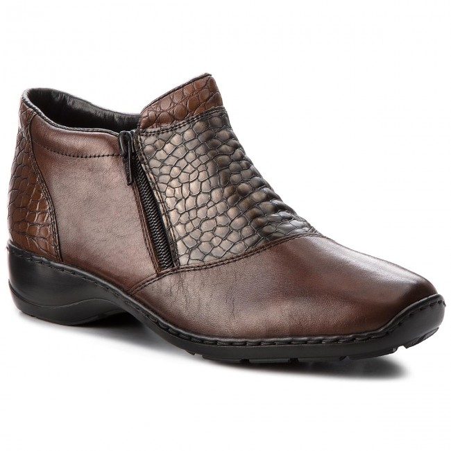 f012e8162 Členková obuv RIEKER - 58359-25 Braun - Kotníková obuv - Čižmy a iné ...