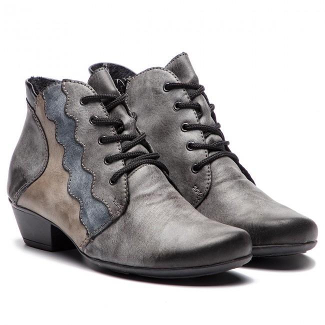 Členková obuv RIEKER Y7331 45 Grau Kombi