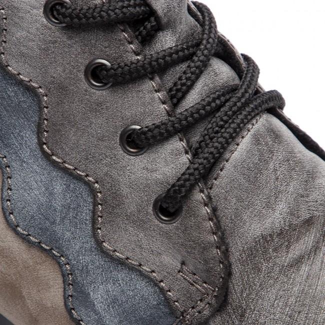 Členková obuv RIEKER - Y7331-45 Grau Kombi - Kotníková obuv - Čižmy ... 747e29eaf1f