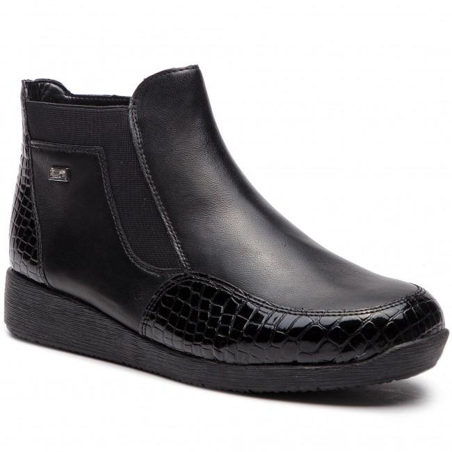 676d06e65fbd4 Členková obuv RIEKER - 94060-00 Schwarz - Kotníková obuv - Čižmy a ...