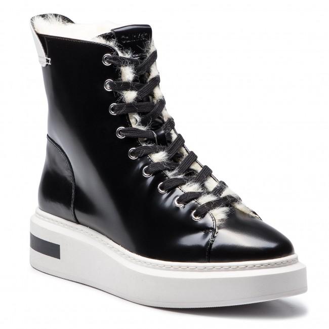 a4aa83ef3c Členková obuv CALVIN KLEIN - Travis E7507 Black Platinum White ...
