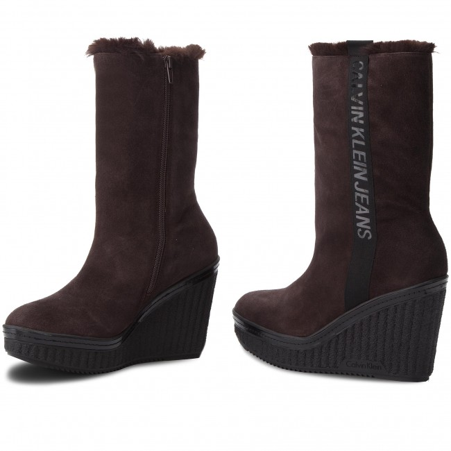 c946caeaa Čižmy CALVIN KLEIN JEANS - Shuana RE9767 Dark Brown - Kotníková obuv ...