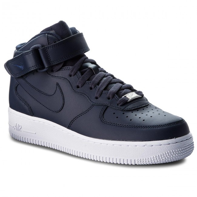 Topánky NIKE - Air Force 1 Mid  07 315123 415 Obsidian Obsidian White d9abc18f7e9