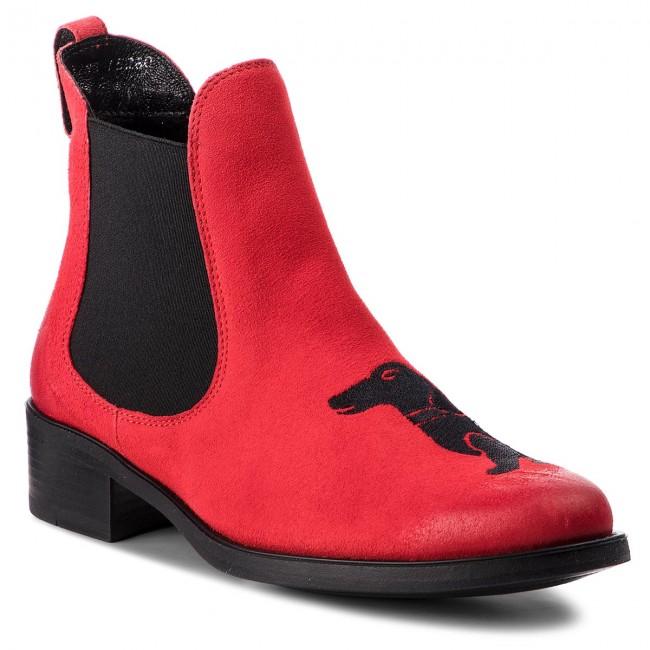 5855f3a54 Kotníková obuv s elastickým prvkom MACIEJKA - 03283-08/00-3 Czerwony ...