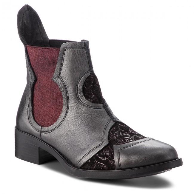 bcf530a20 Kotníková obuv s elastickým prvkom MACIEJKA - 03660-23/00-3 Bordowy ...