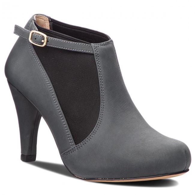 Členková obuv CLARKS - Dalia Pearl 261385734 Dark Grey Nubuck ... d0390fda194