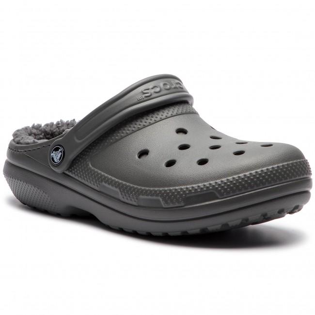 Papuče CROCS - Classic Lined Clog 203591 Slate Grey Smoke - Papuče ... 882d5766881