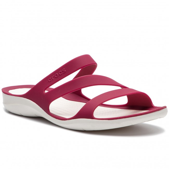 36299468ed Šľapky CROCS - Swiftwater Sandal W 203998 Pomegranate White - Šľapky ...