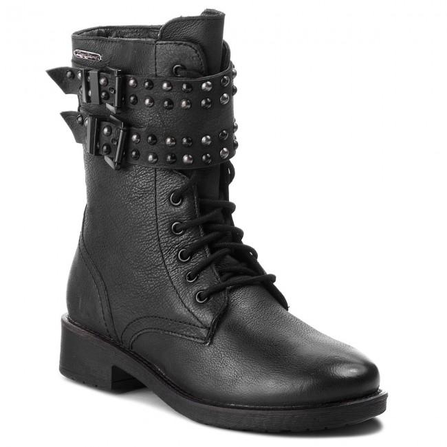 be081445da Členková obuv PEPE JEANS - Maddox Army PLS50346 Black 999 ...