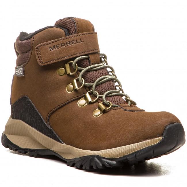 Outdoorová obuv MERRELL - Alpine Wtrpf MC56270 Brown - Topánky ... 086386fdd7a