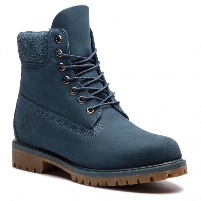 Outdoorová obuv TIMBERLAND - Premium 6 In Waterproof Boot TB0A1UEU431 Navy  Nubuck 3adaa68432f