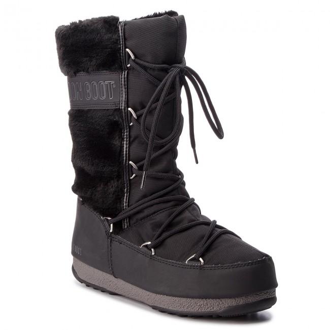 Snehule MOON BOOT - Monaco Hi Fur 24008400001 Black - Snehule ... 4bc5cda6c04