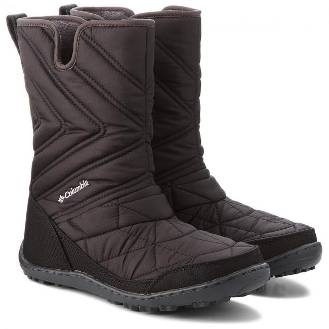 Snehule COLUMBIA - Youth Minx Slip III BY5948 Black White 010 - Outdoorová  obuv - Čižmy a iné - Diavča - Detské - www.eobuv.sk 506c78fe67