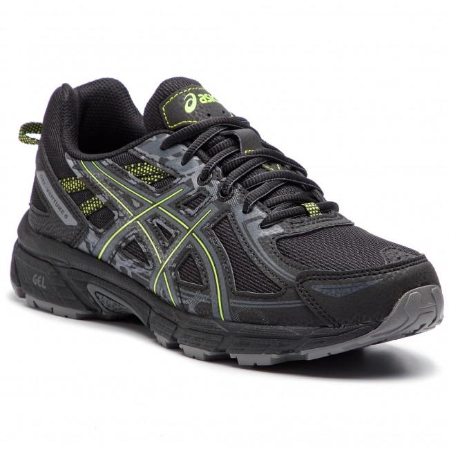 c92f5fe025ebe Topánky ASICS - Gel-Venture 6 T7G1N Black/Neon Lime 001 - Treningová ...