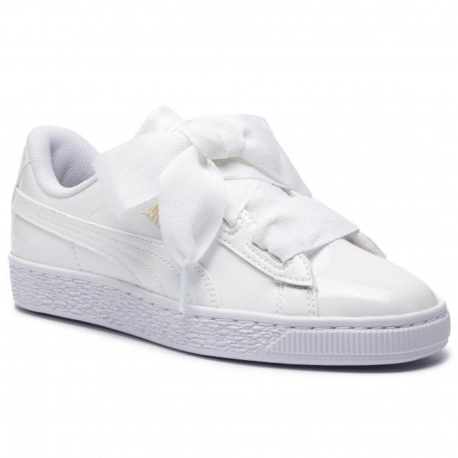 5530f3973a3a Sneakersy PUMA - Basket Heart Patent Jr 364817 02 White Black Prism Pink