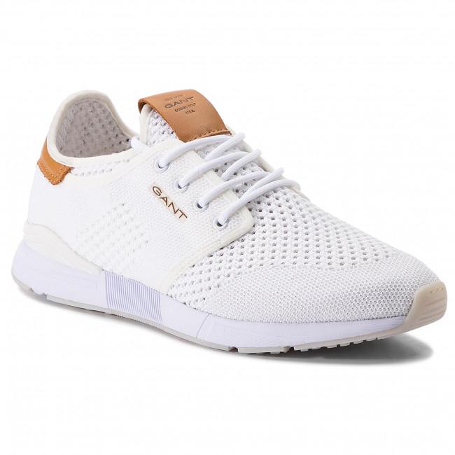 3d856a2cf43d1 Sneakersy GANT - Atlanta 18639322 White G29 - Sneakersy - Poltopánky ...