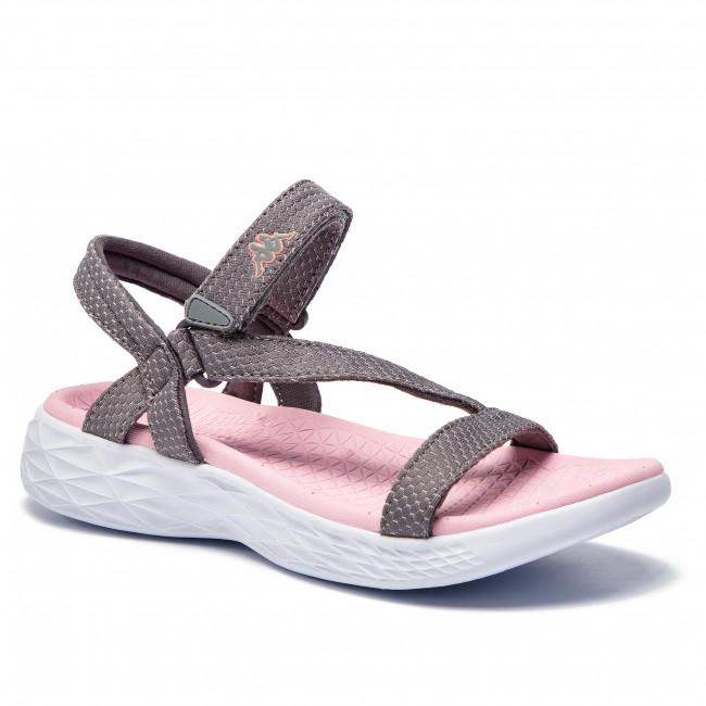 9272cb22f1 Sandále KAPPA - Soletus 242641 Grey Rose 1621 - Sandále na ...