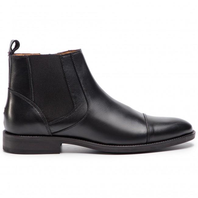 7c81fe804 Čižmy TOMMY HILFIGER - Essential Leather Toecap Chelsea FM0FM02140 Black 990