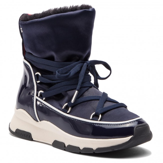 ca5927fd9c Členková obuv TOMMY HILFIGER - Cool Technical Satin Winter Boot FW0FW03697  Midnight 403
