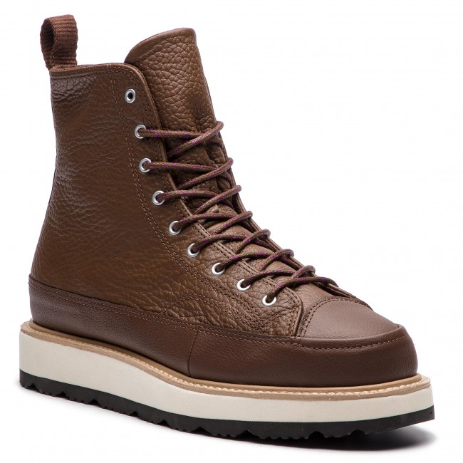 Čižmy CONVERSE - Ct Crafted Boot Hi 162354C Chocolate Light Fawn ... 271b7f9b3b7