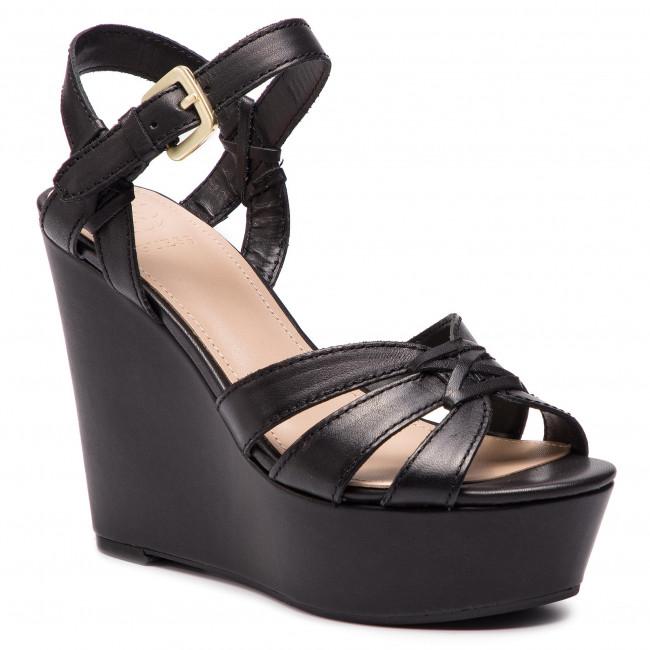 7e2c10cd31 Sandále GUESS - Guliver FL6GUL LEA04 BLACK - Na klíne - Šľapky a ...