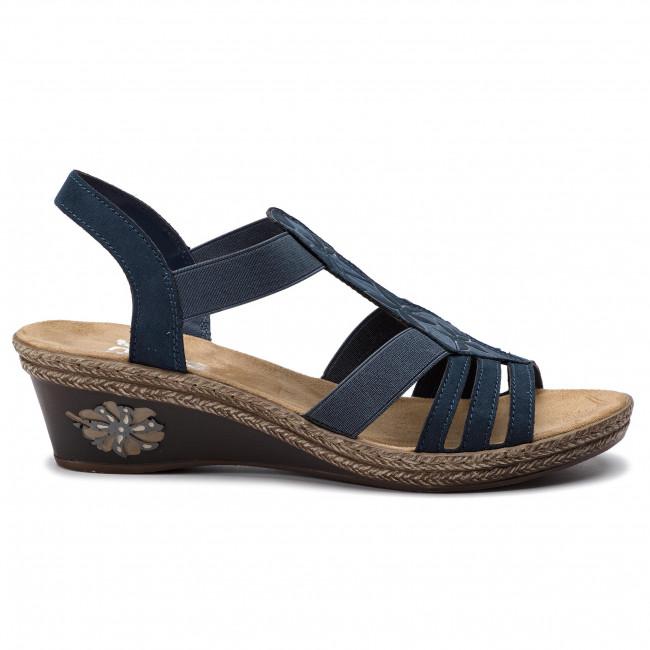 9de47fa4111e Sandále RIEKER - V2411-14 Blau - Na klíne - Šľapky a sandále ...