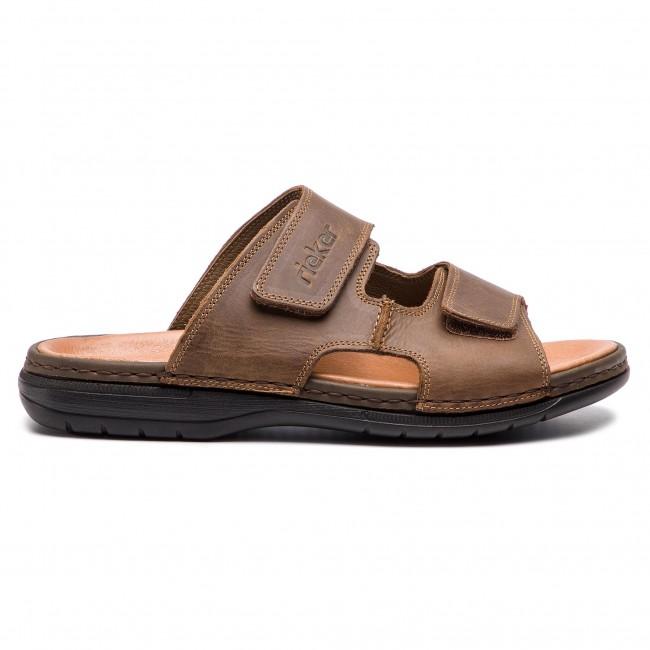 060543464f Šľapky RIEKER - 25592-25 Braun - Šľapky - Šľapky a sandále - Pánske ...