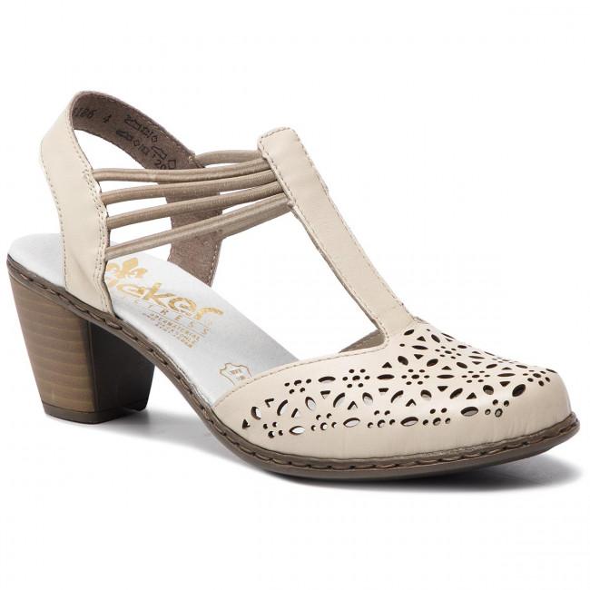 5009111b1ccf Sandále RIEKER - 40969-80 Weiss - Sandále na každodenné nosenie ...
