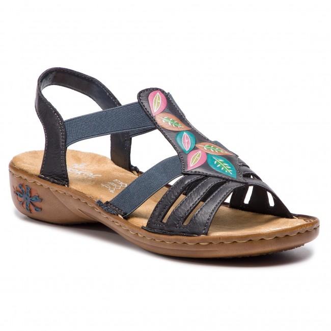 abb5cffb0380 Sandále RIEKER - 60171-14 Blau - Sandále na každodenné nosenie ...