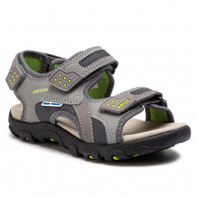 365baba8240d Sandále GEOX - J S.Strada B J9224B 014CE C0666 S Grey Lime - Sandály ...